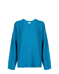 Prada Oversized V Neck Sweater