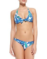 Etro Paisley Print Halter Bikini