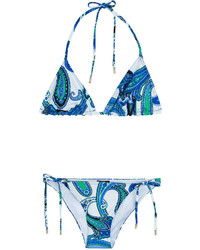 Etro Paisley Print Triangle Bikini