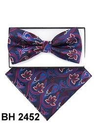 Blue Paisley Bow-tie