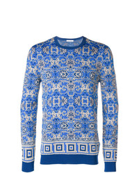 Versace Collection Intarsia Knit Jumper