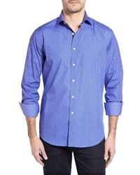 Classic fit paisley print sport shirt medium 3681722
