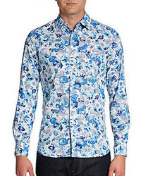 Ganesh Flow Printed Cotton Sportshirt