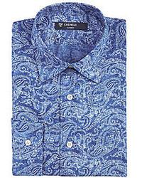 Daniel Cremieux Long Sleeve Paisley Woven Shirt