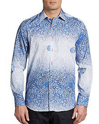 Report Collection Faded Paisley Woven Sportshirt