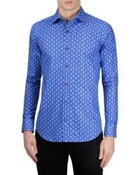 Bugatchi Shaped Fit Paisley Sport Shirt