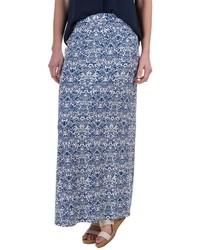 Paisley print maxi skirt rayon medium 3664892