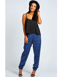 Boohoo lois paisley print relaxed trousers medium 89859