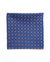 BOSS HUGO BOSS Silk Pocket Square Blue One Size