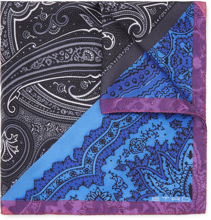 Paisley-print Silk-twill Pocket Square Etro ATVTqta