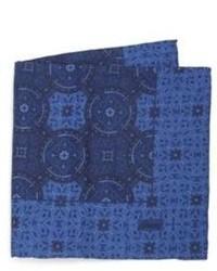 Brioni Paisley Plaid Silk Pocket Square