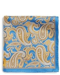 Robert Talbott Paisley Silk Pocket Square