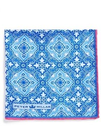 Peter Millar Silk Paisley Pocket Square