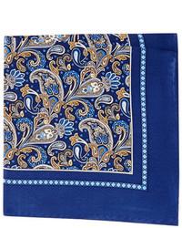 Burma Bibas Silk Paisley Pocket Square