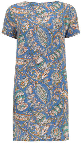 Alice & You Blue Paisley Print Shift Dress   Where to buy & how to wear