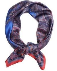 Brooks brothers paisley medallion silk square medium 102309
