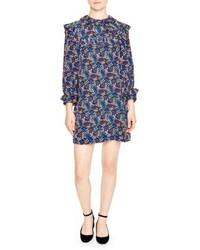 Paisley silk shift dress medium 5259969
