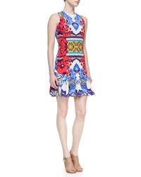 Etro Sleeveless Hawaiian Paisley Print Godette Dress Multicolor