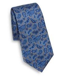 Kiton Paisley Print Silk Tie