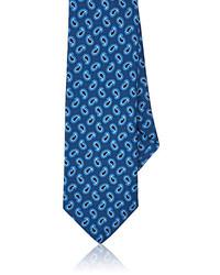 Barneys New York Paisley Silk Satin Necktie