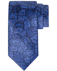 Stefano Ricci Paisley Tile Printed Silk Tie