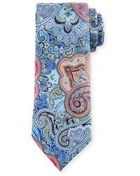 Ermenegildo Zegna Quindici Paisley Tie Blue