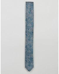 Asos Slim Tie In Blue Paisley