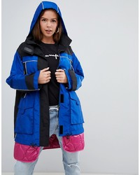 ASOS DESIGN Hybrid Parka With Er