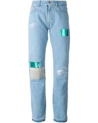 Aries patchwork boyfriend jeans medium 434209