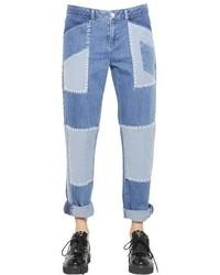 House of holland patchwork cotton denim boyfriend jeans medium 434211