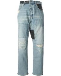 McQ by Alexander McQueen Mcq Alexander Mcqueen Patchwork Boyfriend Jeans