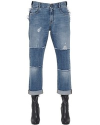 Stella McCartney Distressed Patchwork Organic Denim Jeans