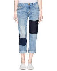 Current/Elliott The Boyfriend Patchwork Jeans