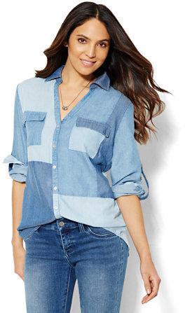 8a618703bd $59, Soho Soft Shirt Patchwork