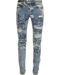 Blue Patchwork Jeans