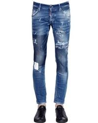 DSQUARED2 165cm Clet Patch Stretch Denim Jeans