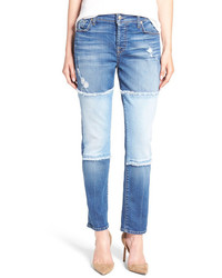 7 For All Mankind Josefina Raw Edge Patchwork Jeans