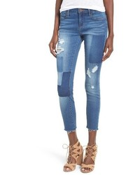 Articles of Society Carly Crop Patchwork Skinny Jeans