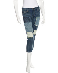 Current/Elliott Patchwork Cropped Jeans W Tags