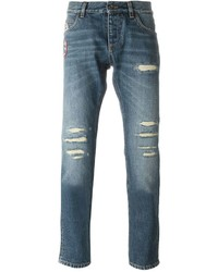 Dolce & Gabbana Ripped Patch Jeans