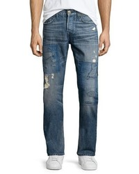 Geno distressed patchwork denim jeans medium 1161070