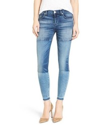 Hudson Isla Patchwork Skinny Jeans