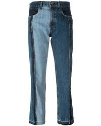 Jean patchwork cropped jeans medium 1211003