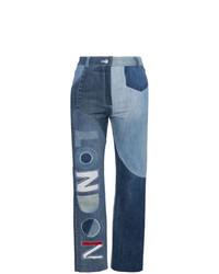 Ronald Van Der Kemp London High Waisted Patchwork Jeans