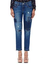 Derek Lam 10 Crosby Mila Patchwork Boyfriend Jeans