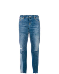 Cambio Patchwork Detail Jeans