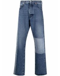 Valentino Patchwork Detail Straight Leg Jeans