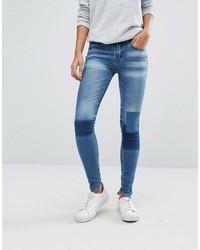 Vila Patchwork Skinny Jeans