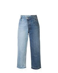 Monse Patchwork Wide Leg Jeans