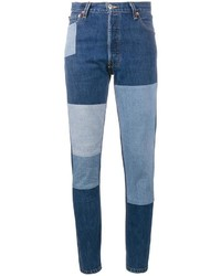 RE/DONE Patchwork Slim Fit Jeans